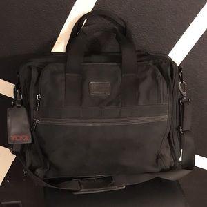 Authentic Tumi Black laptop briefcase bag